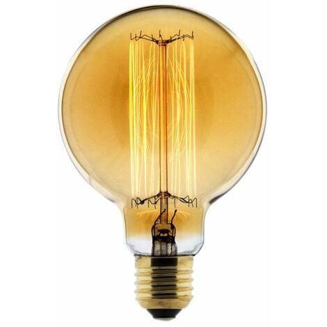 Ampoule Déco filament carbone Globe Ø95 25W E27 2700K (blanc chaud)