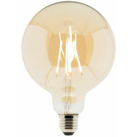 Ampoule Déco filament LED ambrée Globe 7W E27 720lm 2500K