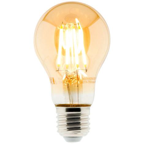 Ampoule Déco filament LED ambrée Standard 4W E27 400lm 2500K