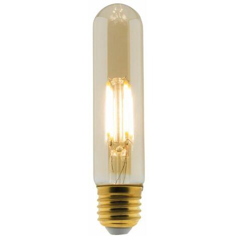 Ampoule Déco filament LED ambrée Tube 4W E27 400lm 2500K