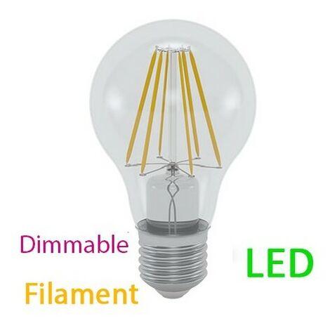 ampoule deco led e27 10 w filament dimmable rendu 100 w blanc chaud -