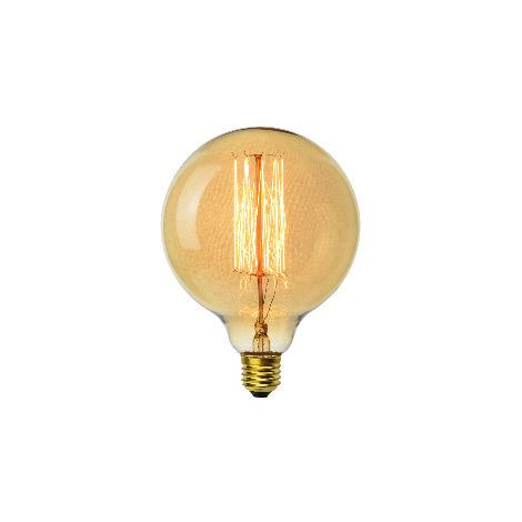 Ampoule décoart incandescente vintage Edison G125 sphère 40W E27 2350K