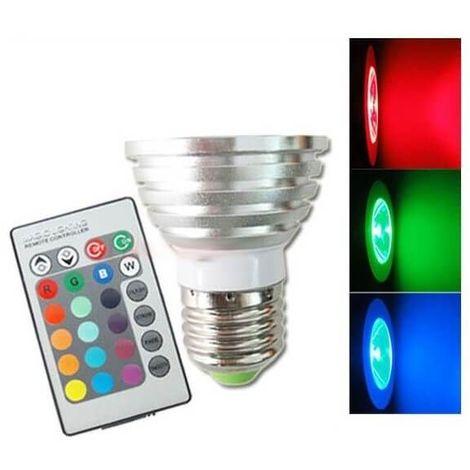 Ampoule À Led Avec Couleurs Télécommande 3w E27 Rgb pzUVSLqMG