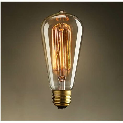 Ampoule E27 filament incandescente 40W - Blanc chaud - Transparent