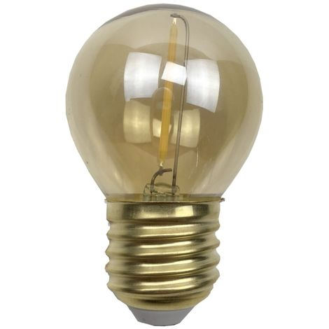 Ampoule - E27/G45 - Filament LED 1W - 2200 K - Antic