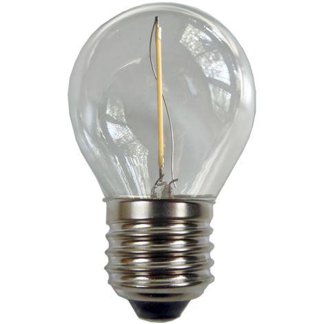 Ampoule - E27/G45 - Filament LED 1W - 3000 K