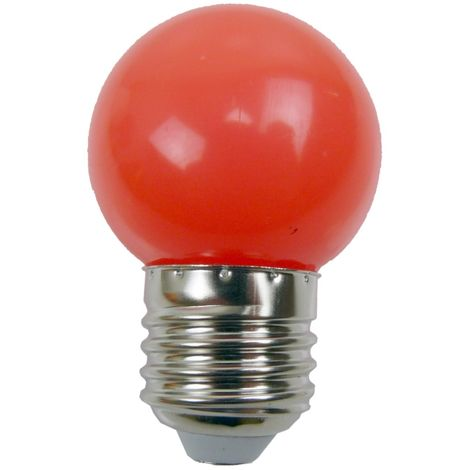 Ampoule - E27/G45 - LED 1W - Non Dimmable - Rouge