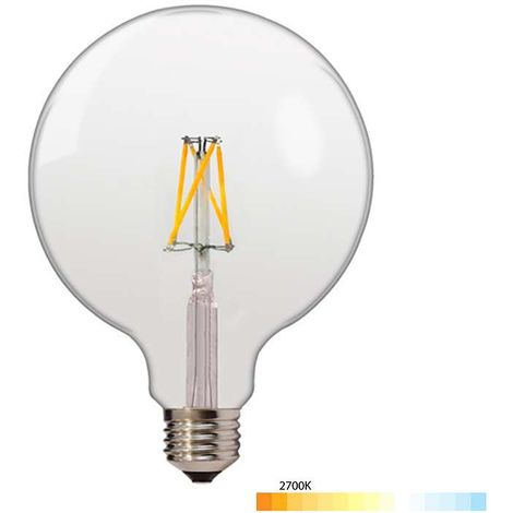 Ampoule E27 globe G125 filament LED 6,5W (50W) Optonica