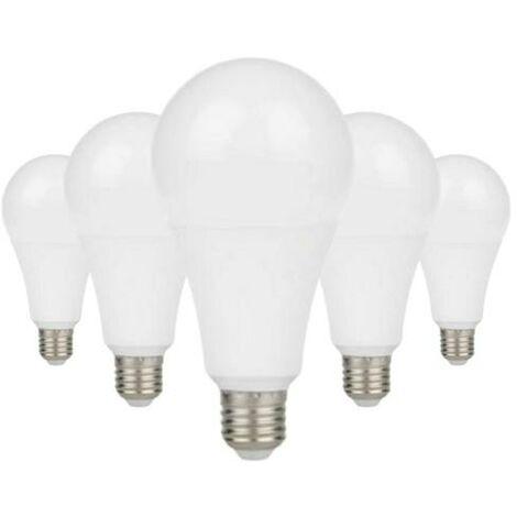 Ampoule E27 LED 13W A60 220V 230° (Pack de 5) - Blanc Chaud 2300K - 3500K