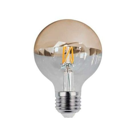 Ampoule E27 LED Filament 4W G95 Reflet Or - Blanc Chaud 2300K - 3500K - SILAMP