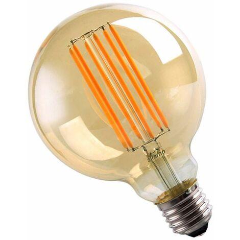 Ampoule E27 LED Filament 6W 220V COB G95 360° Globe Fumé - Blanc Chaud 2300K - 3500K - SILAMP