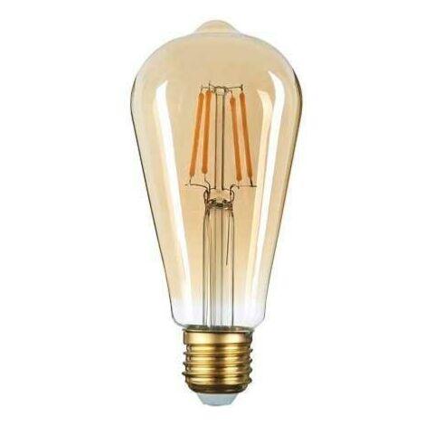 Ampoule E27 LED Filament 6W ST64 Edison - Blanc Chaud 2300K - 3500K - SILAMP