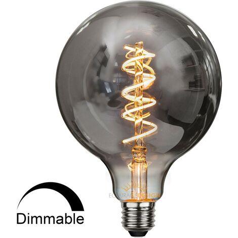 ampoule e27 led filament dimmable globe effet fumée - bs35462