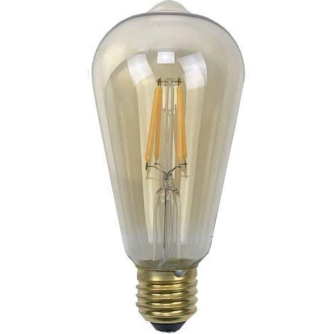 Ampoule - E27/ST64 - Filament LED 4W - 2200 K - Antic
