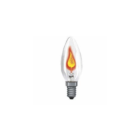 Ampoule Flamme Scintillante 3W cuLot E14 claire
