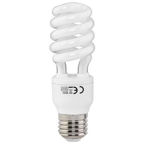 Ampoule Fluo-compact mini-spirale 15W (Eq. 75W) E27 6400K blanc froid