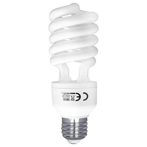 Ampoule Fluo-compact mini-spirale 26W (Eq. 130W) E27 2700K blanc chaud