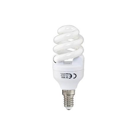 Ampoule Fluo-compact spirale 12W (Eq. 60W) E14 2700K blanc chaud