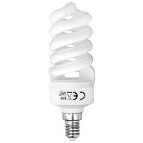 Ampoule Fluo-compact spirale 15W (Eq. 75W) E14 6400K blanc froid