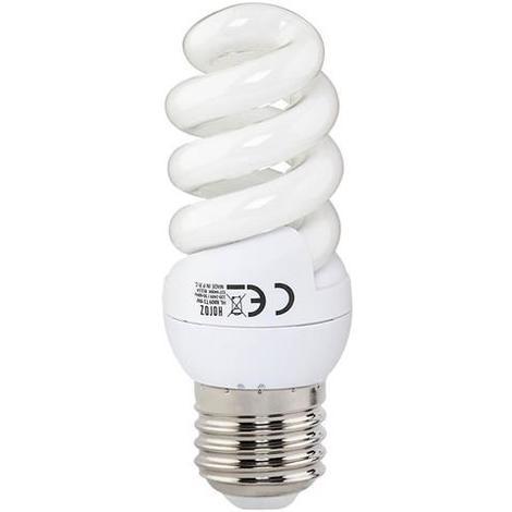 Ampoule Fluo-compact spirale 9W (Eq. 45W) E27 6400K blanc froid