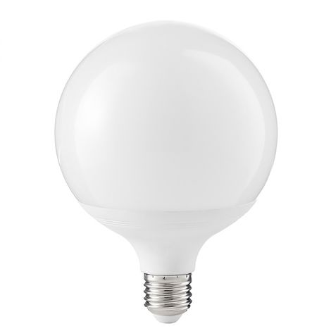 Ampoule gea led gla246c 20w e27 led 1550lm 12cm 3000 ° k 300 ° sphère en plastique globe blanc lumière chaude diffuse la lumière