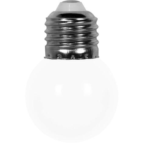 c/âble noir Guirlande Party light 10 m 20 led blanc chaud 20 ampoules blanches /Ø 50 mm