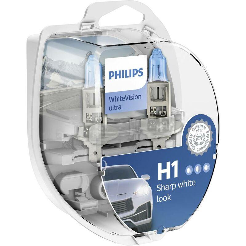 Philips 12258WVUSM Ampoule halogène WhiteVision H1 55 W 12 V