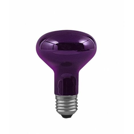 Ampoule incandescente réflecteur R80 - E27 - 75W - Dimmable - Lumière noire