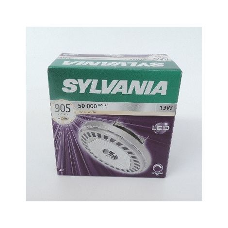 Ampoule LED 13W AR111 3000K 905lm culot G53 12V dimmable 40° REFLED SUPERIA SYLVANIA 0026422