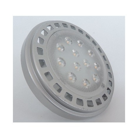Ampoule LED 13W spot AR111 blanc chaud 3000K 1000lm culot G53 12V 30° IP20 OFLIGHT THOMSON 64850