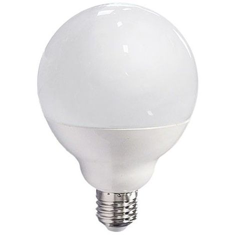 Ampoule LED 15W (140W) E27 Globe opale Blanc jour 6000°K
