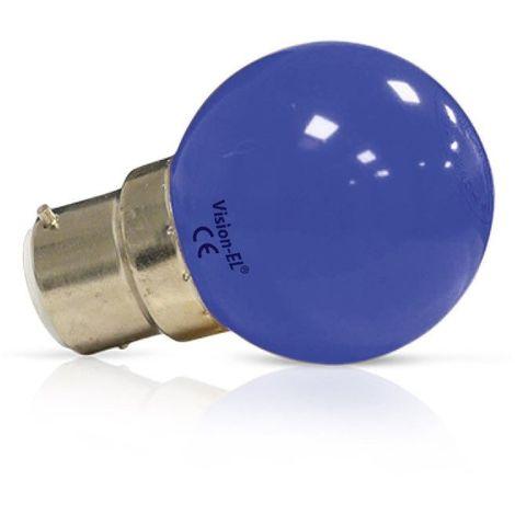 Ampoule Led 1W (9W) B22 Couleur émise BLEU finition dépolie