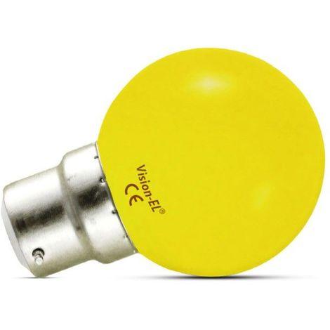 Ampoule Led 1W (9W) B22 Couleur émise JAUNE finition dépolie