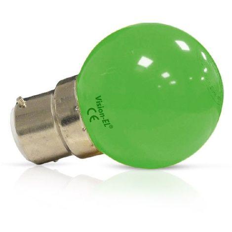 Ampoule Led 1W (9W) B22 Couleur émise VERT finition dépolie