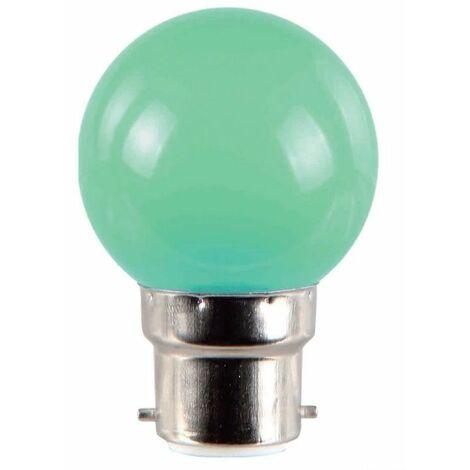 Ampoule LED 1W B22 couleur Verte