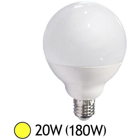 Ampoule LED 20W (180W) E27 Globe Blanc chaud 3000°K