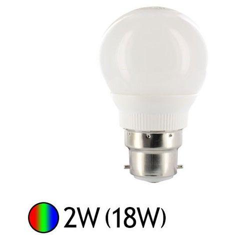 Ampoule Led 2W (18W) B22 multi-couleurs RGB auto