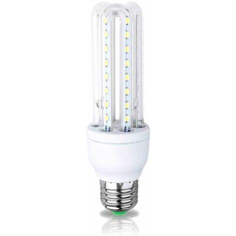 Ampoule led 3 tubes e27 8w blanc chaud