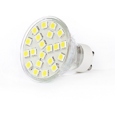 Ampoule LED 4.5W (equivalent 35W) spot GU10 blanc chaud 3000K 250lm dimmable 230V 120° LED GU10-5021D-WW