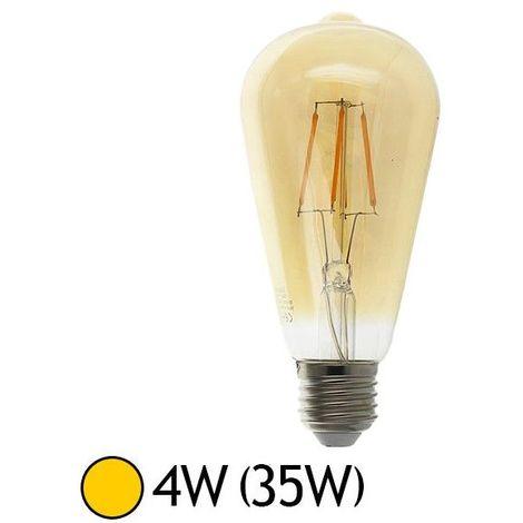 Ampoule Led 4W (35W) E27 Filament COB Globe ST64 doré Blanc chaud 2700°K