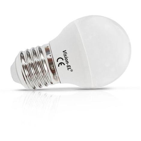 Ampoule Led 6W (55W) E27 Boule opale Blanc chaud