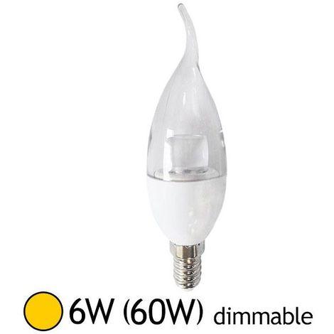 ampoule led 6w (60w) e14 flamme dimmable blanc chaud 2700°k - 7490bd