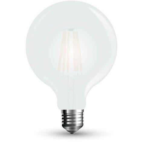 Ampoule LED 7W filament Givre Cover E27 G125 300° 840LM Mod. VT-2067 - SKU 7189 - Blanc Chaud 2700K