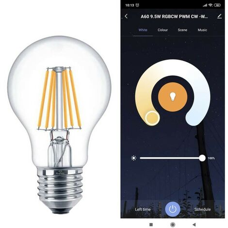 Ampoule LED 7W SMART Wifi - CCT Filament - A60 Dimmable - E27