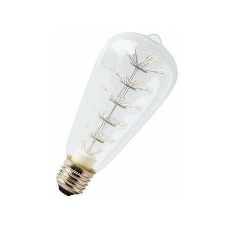 Ampoule LED à filament Deco DIP ST64 E27 - 3W - 2100K - 280lm - Clair - Non dimmable