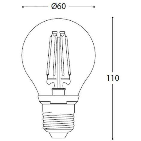 Filament Led Ampoule A60 1000lm 8w 360° À E27 GSVjqMLUzp