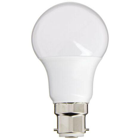Ampoule LED A60, culot B22, 10W cons. (60W eq.), lumière blanc neutre | Xanlite