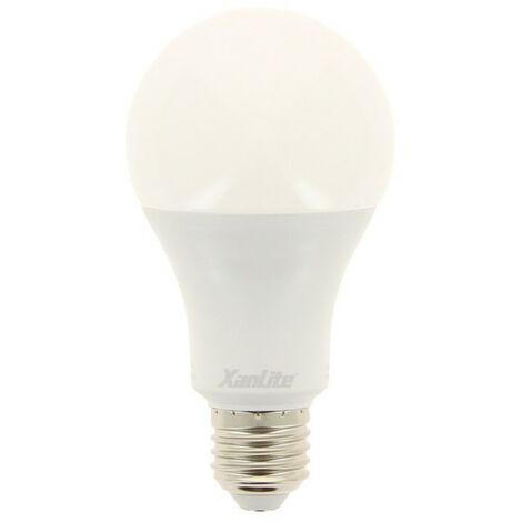 Ampoule LED A60, culot E27, 18W cons. (150W eq.), lumière blanc chaud | Xanlite