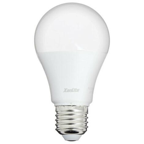 Ampoule LED A60, culot E27, 9W cons. (60W eq.), lumière blanc chaud | Xanlite