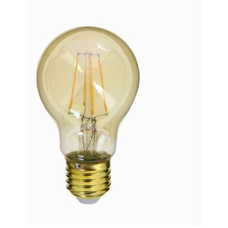 Ampoule LED (A60) / Vintage au verre ambré, culot E27, 3,8W cons. (30W eq.), 350 lumens, lumière blanc chaud | Xanlite